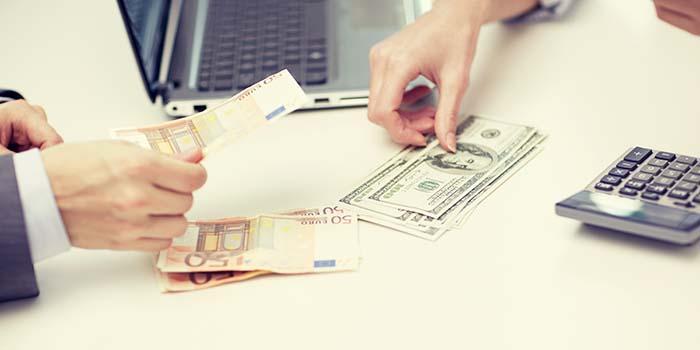 valuutanvaihto pankissa