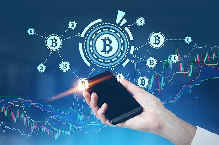 Bitcoin kryptovaluutta mobiilissa